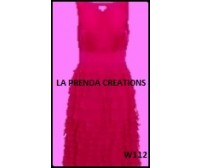 APPEALING PINK FROCK WITH FRILLS W112