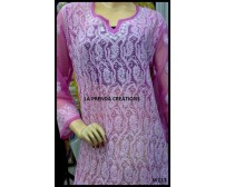 SOOTHING PURPLE LUCKNAWI CHIKAN KURTI W113