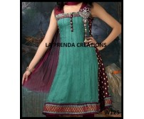 GREEN COLOR DESIGNER FROCK SUIT