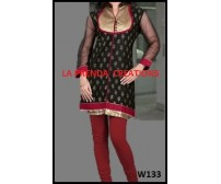 BLACK –RED COLOR DESIGNER SUIT  W133
