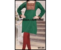 GREEN –RED COLOR DESIGNER SUIT  W134