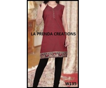 .RED AND BLACK COLOR DESIGNER SUIT W135