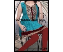 BLUE- RED COLOR DESIGNER SUIT  W136