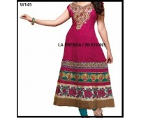 PINK  DESIGNER  INDIAN SUIT  W145